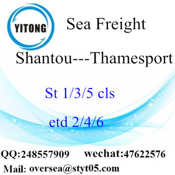 Shantou Port LCL Consolidation To  Thamesport