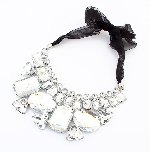 Crystal Collar Vintage Statement Necklace