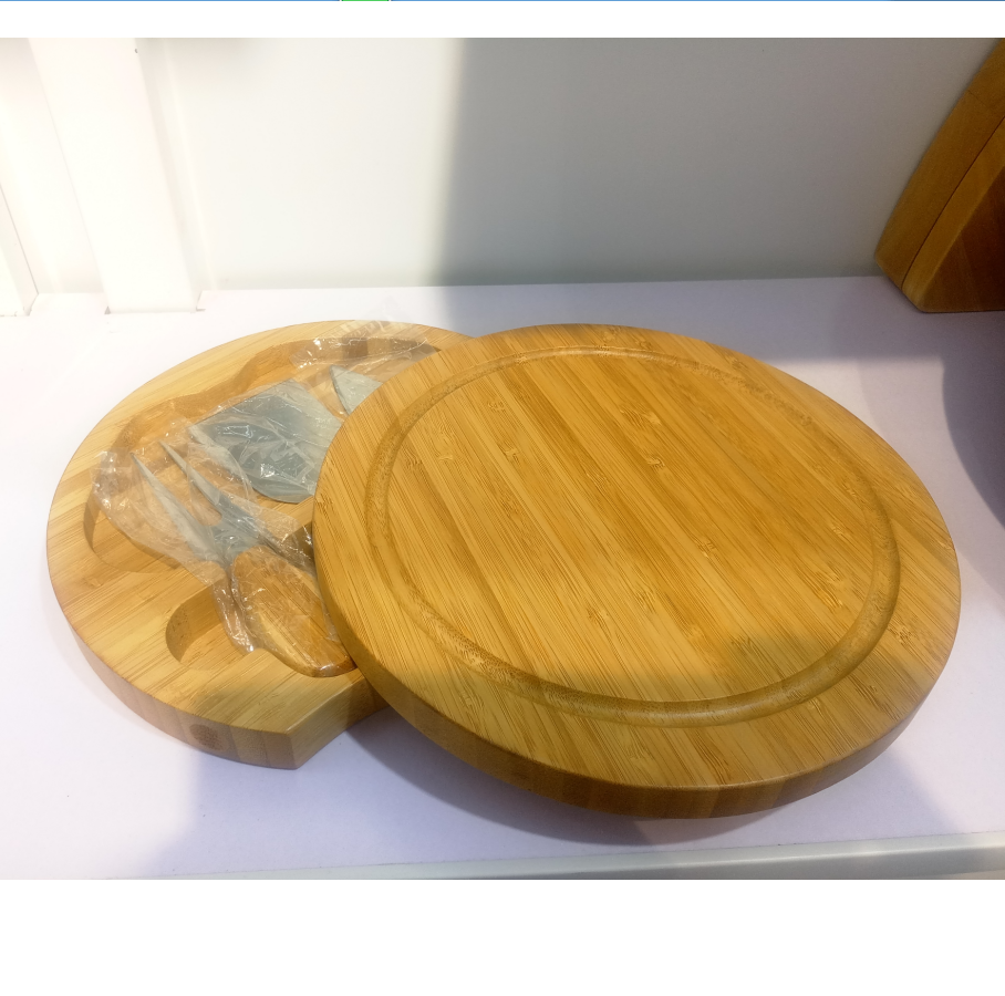 Wooden Cheese Board Set