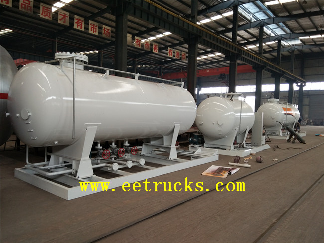 10000 Liters Skid Mounted LPG Tanks
