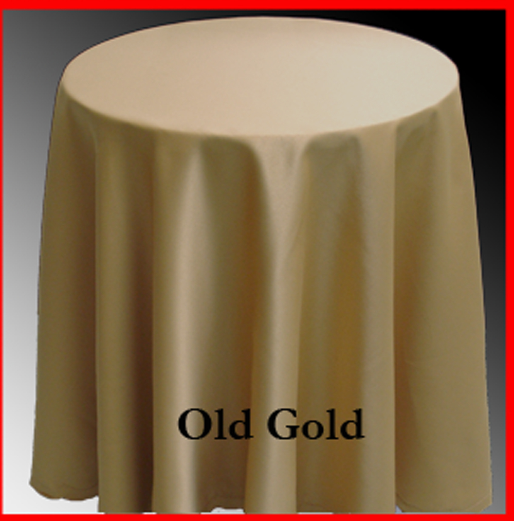 Old Gold color table covers