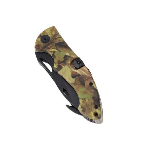 3-blade camo coated outdoor folding survival knife