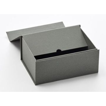 Cardboard Folding Wine Gift Packaging Box with Ribbon