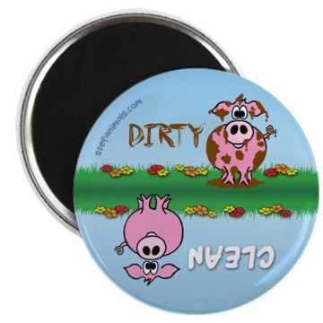 Custom Pig Dishwasher Rectangle Magnet