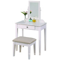 Table White Finish bathroom makeup vanity