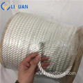 Natural white double braid polyester rope