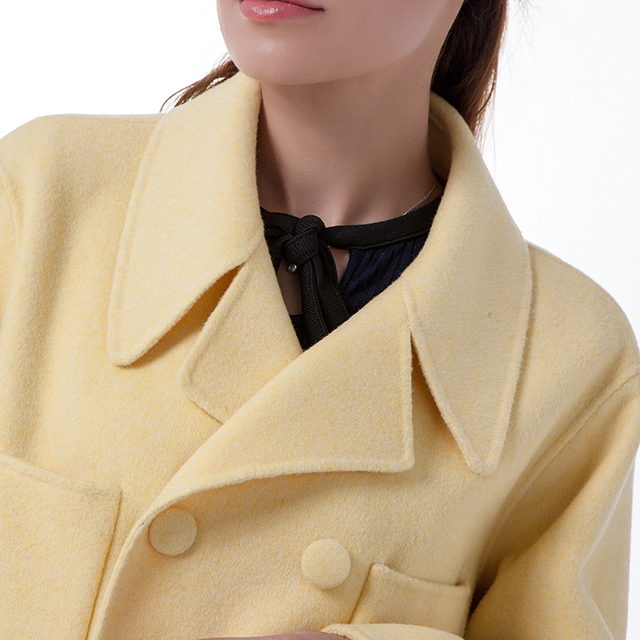 New yellow cashmere overcoat