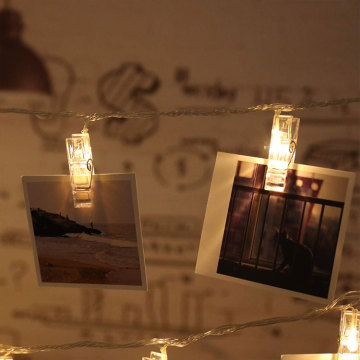 Décor à la maison Photo Clips Led String Light