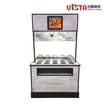 Customized 4 Ways Wooden Display Counter Stand