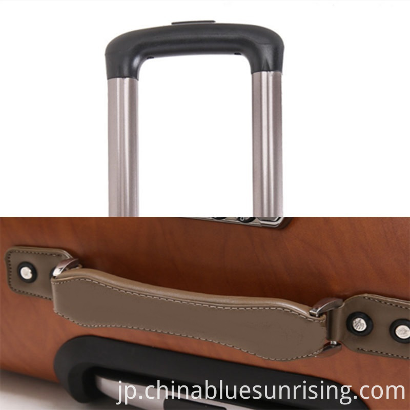 Aluminum Alloy Handle pu luggage