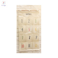 Hot selling fabric organizer hanging bag 100% cotton wall storage pocket