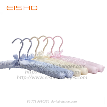 EISHO Purple Satin Padded Silk Hanger