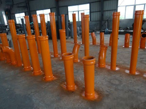 Concrete pump bend pipelines