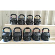 Black power coated  Skull Kettlebell