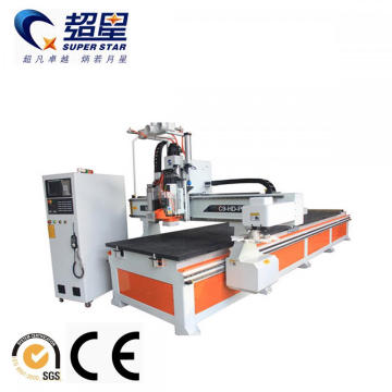 Double- processing center engraving machine