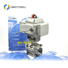 JKTLEB020 electric actuated ss316 3 inch stainless steel ball valve