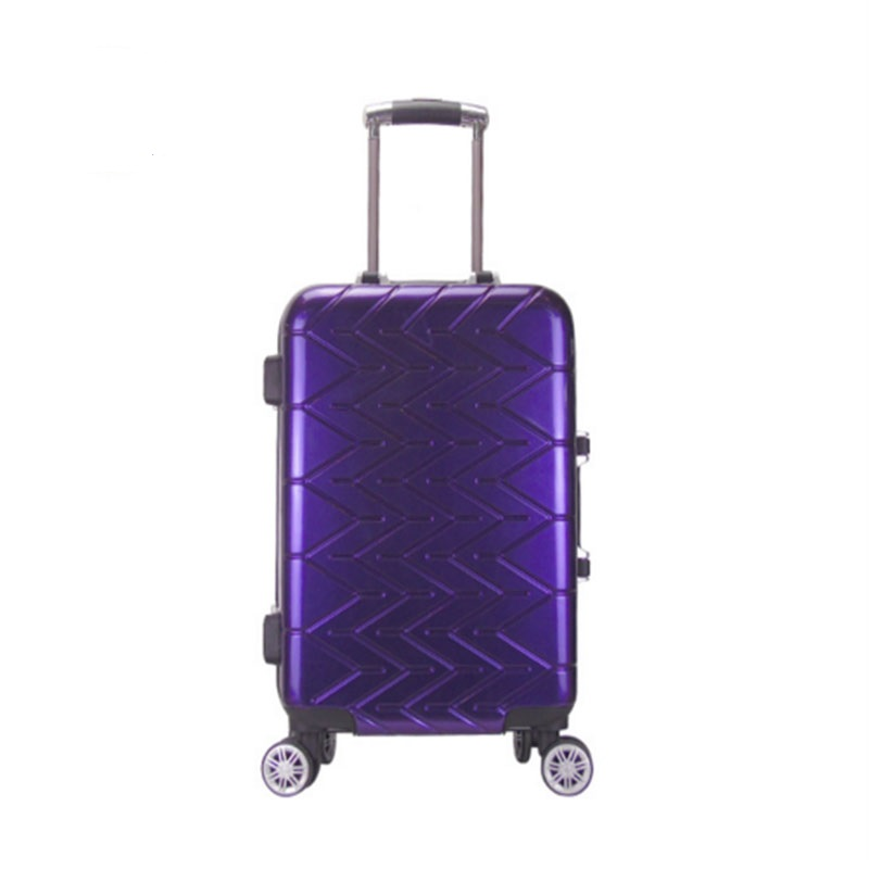 Purple Pvc Luggage