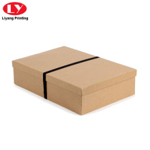 Natural Brown Kraft Paper Apparel Box with Lid