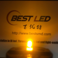 Super Bright 3mm Diffused Yellow LED 590nm