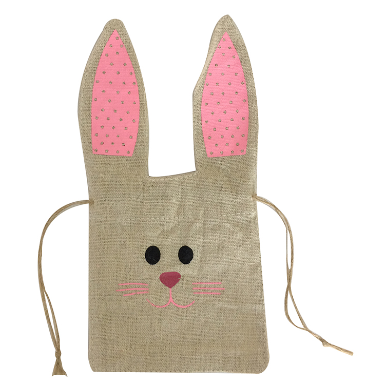 Easter Burlap Portable Gift Bag