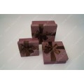 Ribbon bow purple cosmetic box