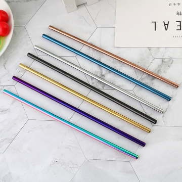 304 stainless metal straw with wheat box