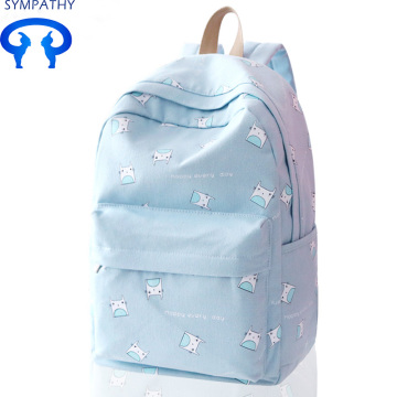 Customized leisure bag students backpack canvas backpack
