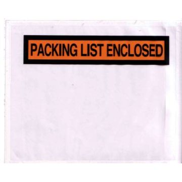 4.5x5.5inch side loading Packing list envelope