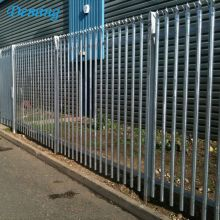 galvanized powder coated steel picket palisade fence