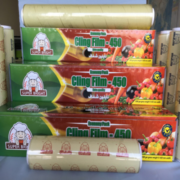 Good Quality Durable Transparent Pvc Cling Film with box