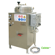 Leather making solvent recovery machine