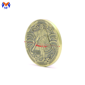 Gold armour of metal god coin