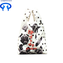 Shopping bag double pocket folding handbag