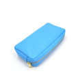 Large Capacity Zipper Pu Leather Travel Cosmetic Bag