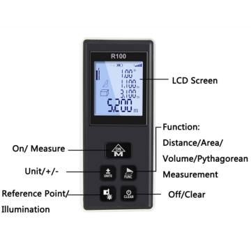 OEM Digital Laser Measurer100m With Angle Measuring Meter