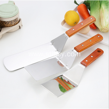 Wooden Handle Stainless Steel Pizza Shovel