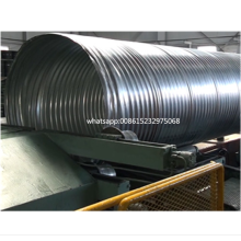 Heavy Duty corrugated steel pipe machine for culvert