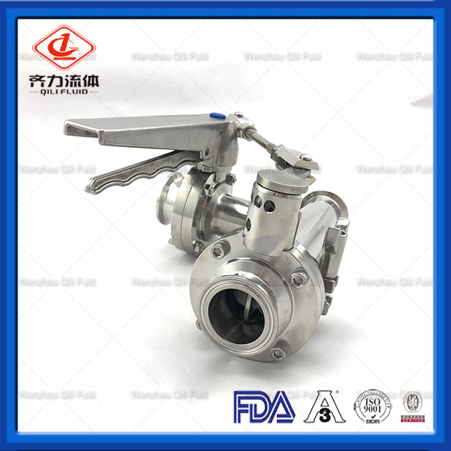 Sanitary Tee with 3A Standard Butterfly Valve