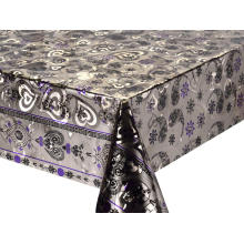 Double Face Emboss printed Gold Silver Tablecloth Ikea