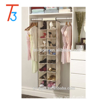 8 shelf 16 pockets hanging fabric shoe rack organizer