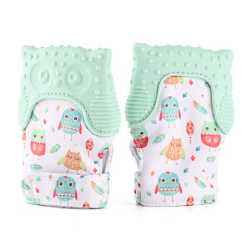 Owl Silicone Baby Teething Mitten