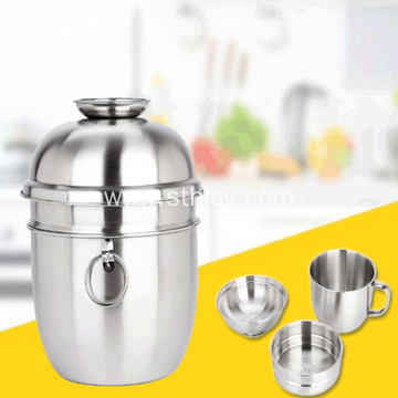 Stainless Steel Dinner Cup Students Snack Cup