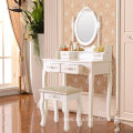 French Style Dressing table/Vanity/Dresser & Stool Set/ makeup table set