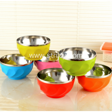 Stainless Steel Double Insulation Anti-ironing Bowl