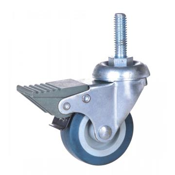 2 inch thread stem caster with  brake