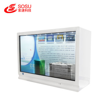 Vitrine lcd transparente tactile infrarouge portable 32 pouces