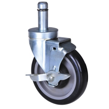 5'' grip ring swivel caster with total brake