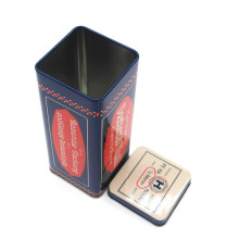 Tinplate Tea Rectangle Tin Custom Cans