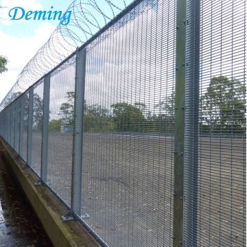 anti climb fencing barbed wire safety airport fence