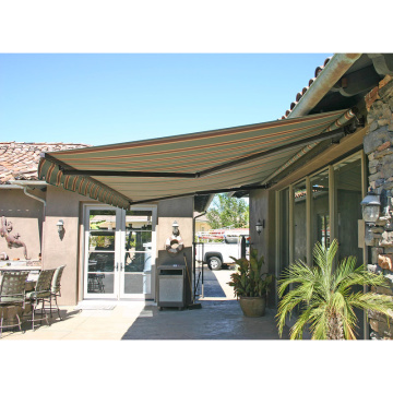 Retractable arms awning 3.6*1.2M Green/White Stripes